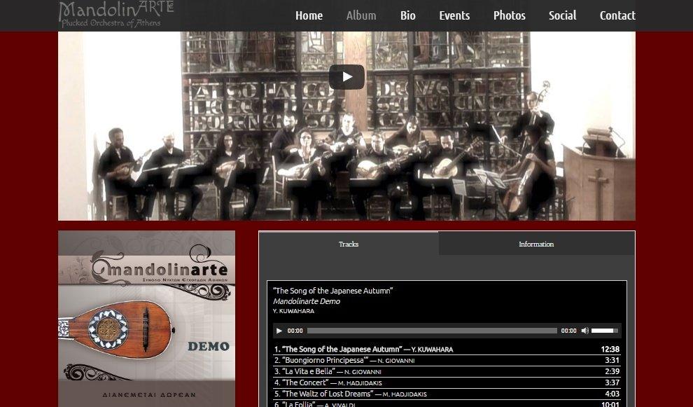 Mandolinarte musician website